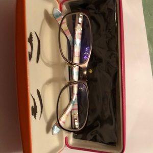 Women's petite Kate Spade prescription glasses.
